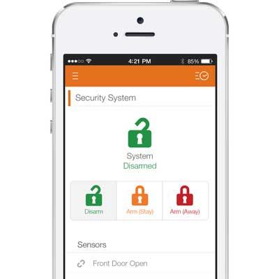 Alarm.com smartphone app